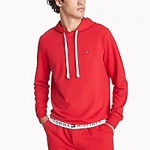 Tommy Hilfiger Red Solid Lounge Hoodie Size XL